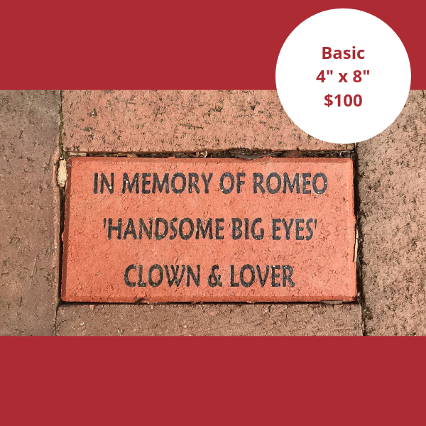 "4"" x 8"" commemorative brick paver"