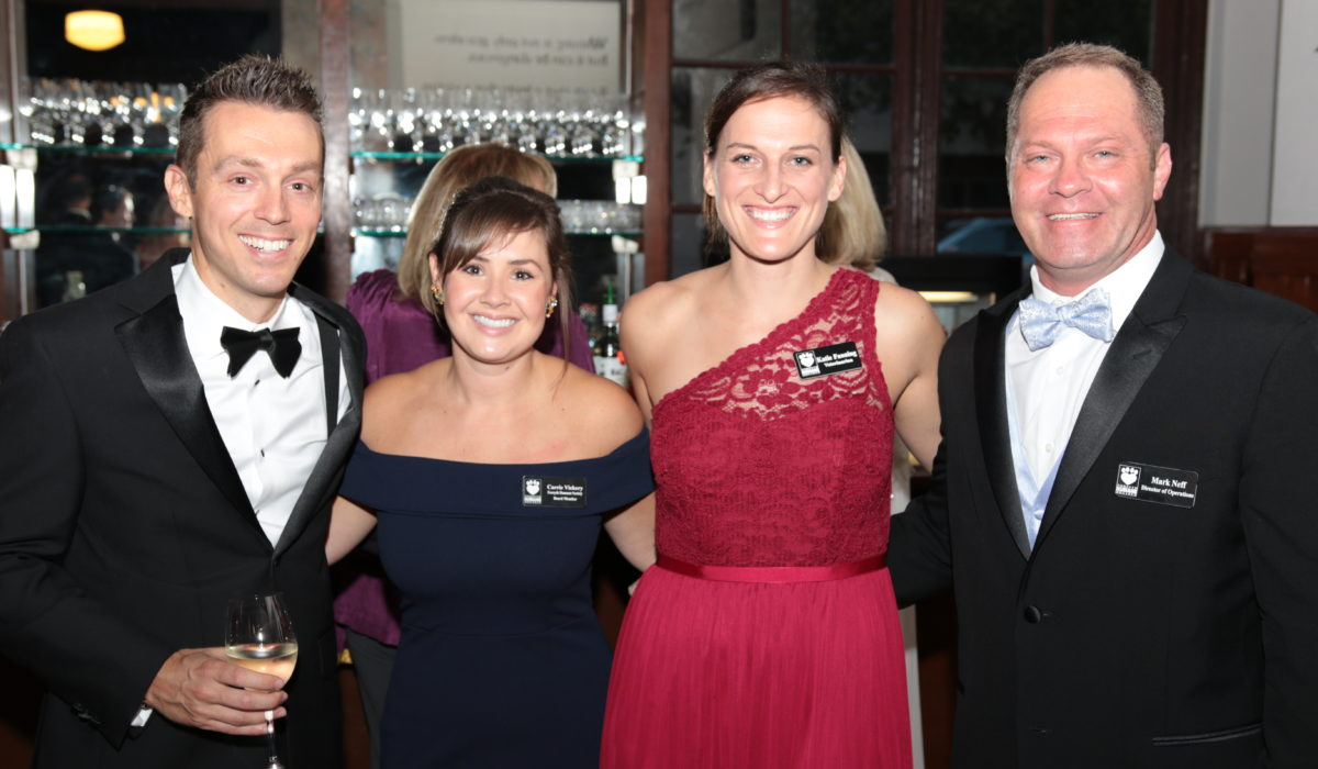 Forsyth Humane Society leadership at black tie gala